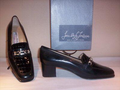 Accurato Scarpe Classiche Mocassini Jean De La Fontaine Donna Eleganti Tacchi Neri N 38,5 Superiore (In) Qualità