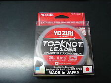 YO-ZURI TOPKNOT LEADER 100% SUPER FLUOROCARBON 20lb 30yd R1229-NC Natural Clear