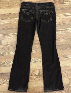 London Jeans Pantalones De Pana Marron Flare Tiro Bajo Pantalones Vaqueros Para Mujer 8 Ebay
