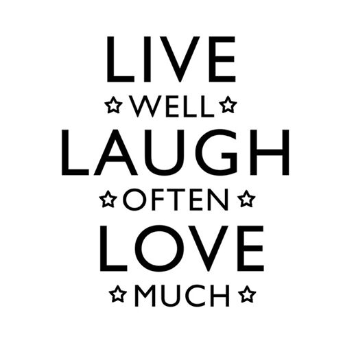 Live Well Laugh Often Love Much Decal Sticker for Home Decor Wall Window Door