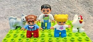 Lego-Duplo-Family-Figure-Bundle-Dad-Kids-amp-Animals-Free-UK-Delivery