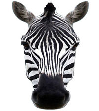 Cebra Animal 2D Careta De Cartón Fiesta Disfraz Zoo Safari Tema