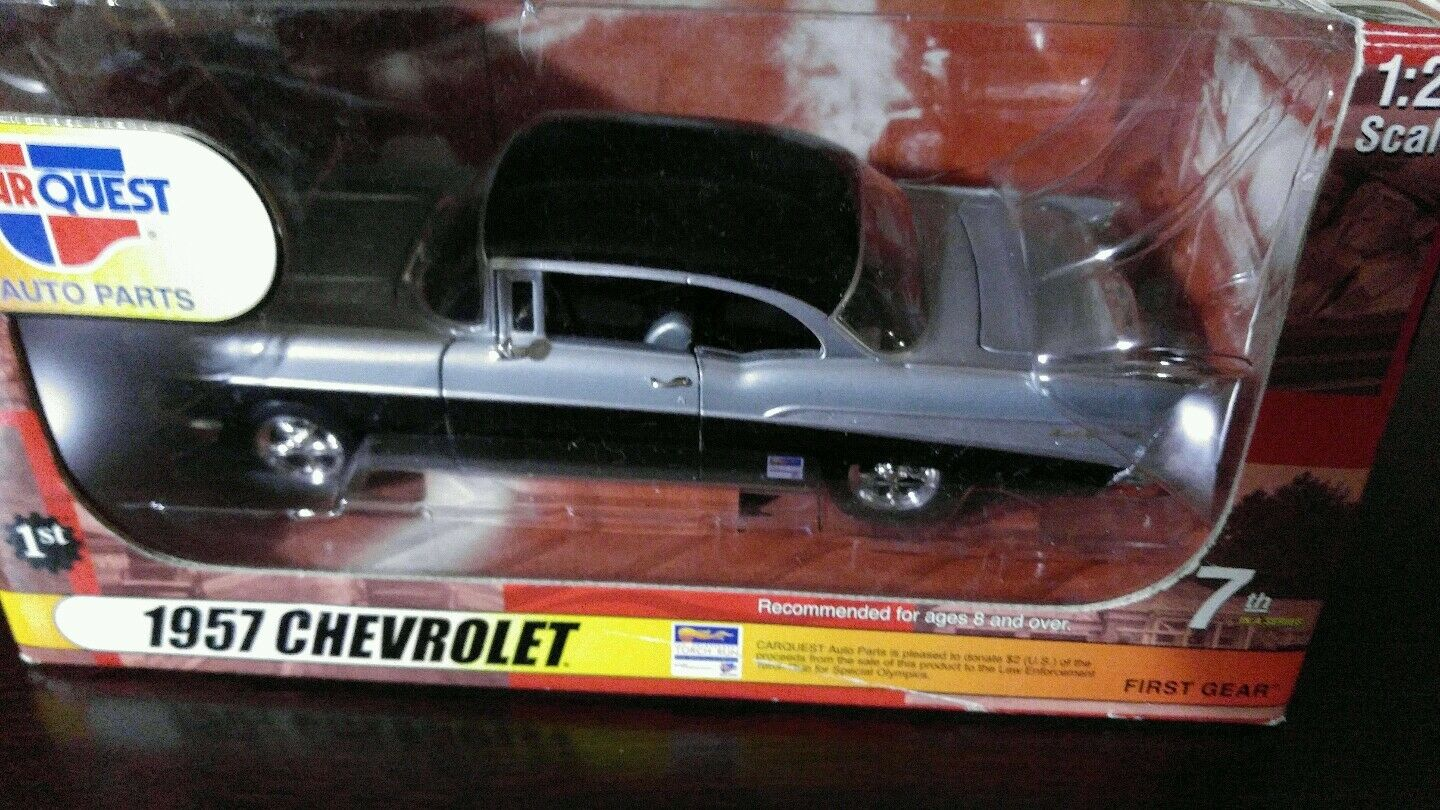 FIRST GEAR CAR CAR CAR QUEST 1957 CHEVROLET BEL AIR DIE-CAST REPLICA 1 25 SCALE NEW be2e04