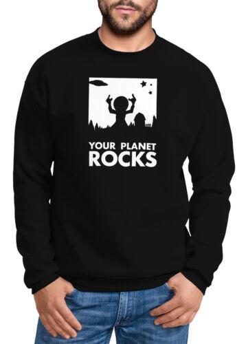 Sweatshirt Herren Your Planet Rocks Alien Ufo Rock Festival Moonworks®