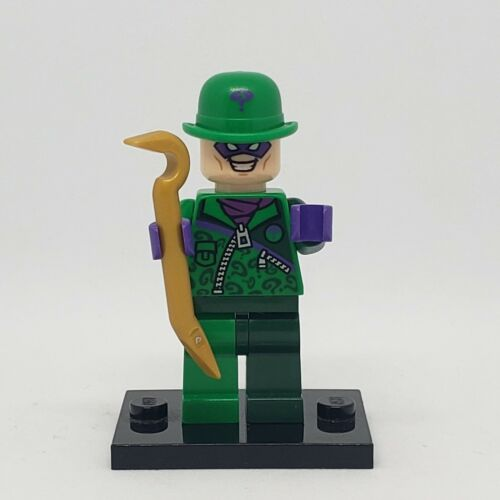 authentic LEGO minifigure The Riddler sh088 two tone pants 76012 DC Batman Hero