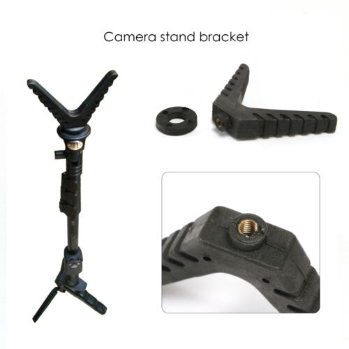 Outdoor Tripod Shooting Hunting Stick Gun Rest V-Yoke Mount Adjustable Camera