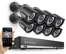 Amcrest 960H HD 8CH 1TB DVR Security Camera System- 8x 800TVL CCTV Bullet Cams