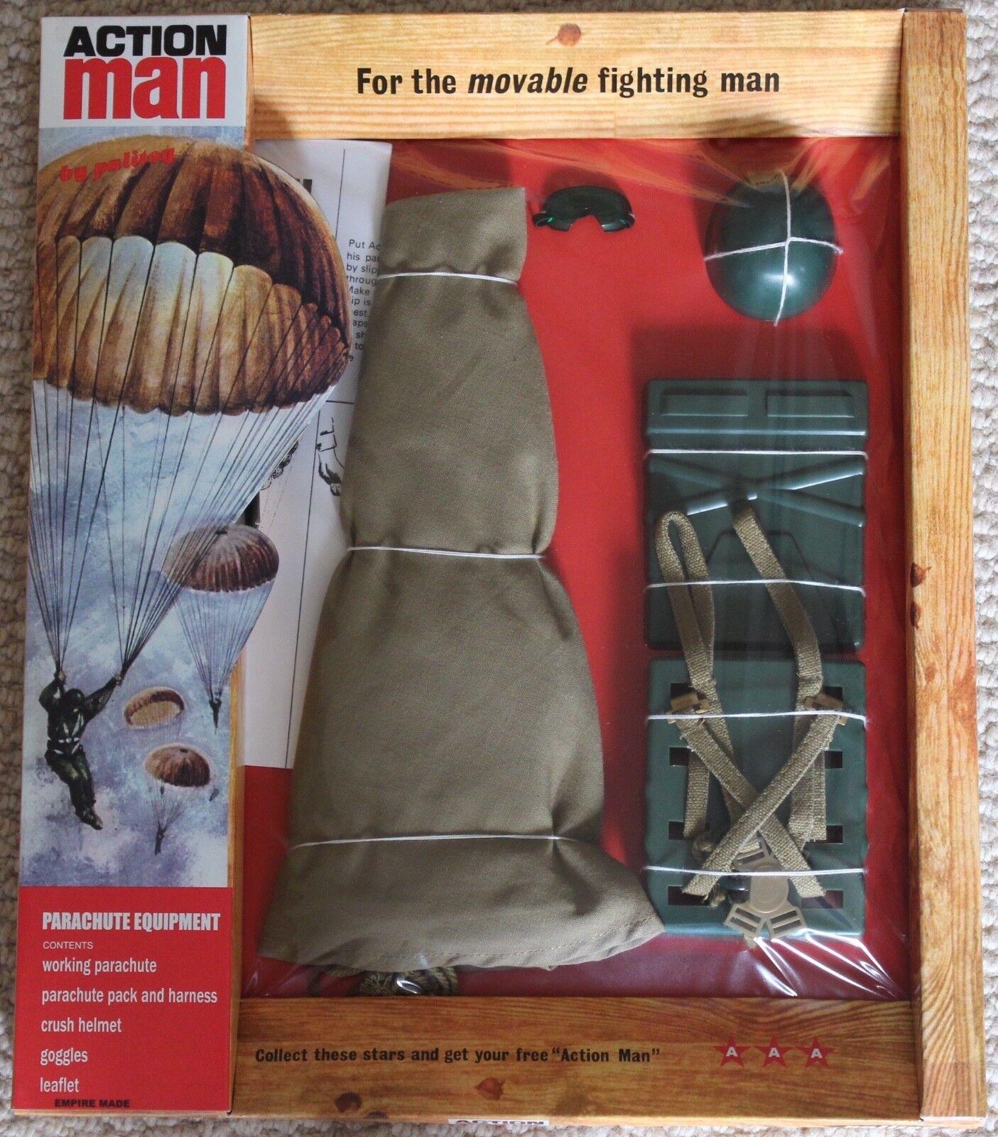 VINTAGE ACTION MAN 40th ANNIVERSARIO Paracadute attrezzature Set Card in Scatola