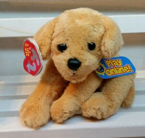 TY FLETCH the GOLDEN RETRIEVER 2.0 BEANIE BABY - NEW with TAGS & unused code.