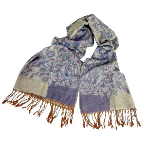 Elegant Soft Women Ethnic Scarf Long Floral Stylish Foulard Winter Autumn Shawls