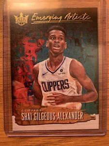 2018-19 Panini Court Kings Emerging Artists Shai Gilgeous-Alexander Rookie RC #5