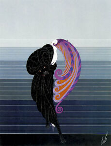 Beauty and the Beast 22x30 Art Deco Print by Erte