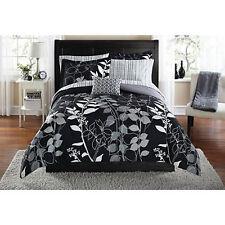 Bedding Set King Size Comforter Sheets Bed In a Bag Complete Black Floral Orkasi