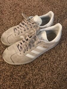 Details about Adidas Womens Gazelle Casual Shoes RARE Ice Purple/White/Gold Metallic BA9601