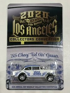 Hot Wheels 55 Chevy Gasser Dinner Patch 2020 LA 34th Collectors Convention
