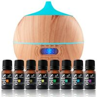 Essential Oil Bluetooth Diffuser Air Aroma Mist Theapy Ultrasonic W/ Oils Set on Sale