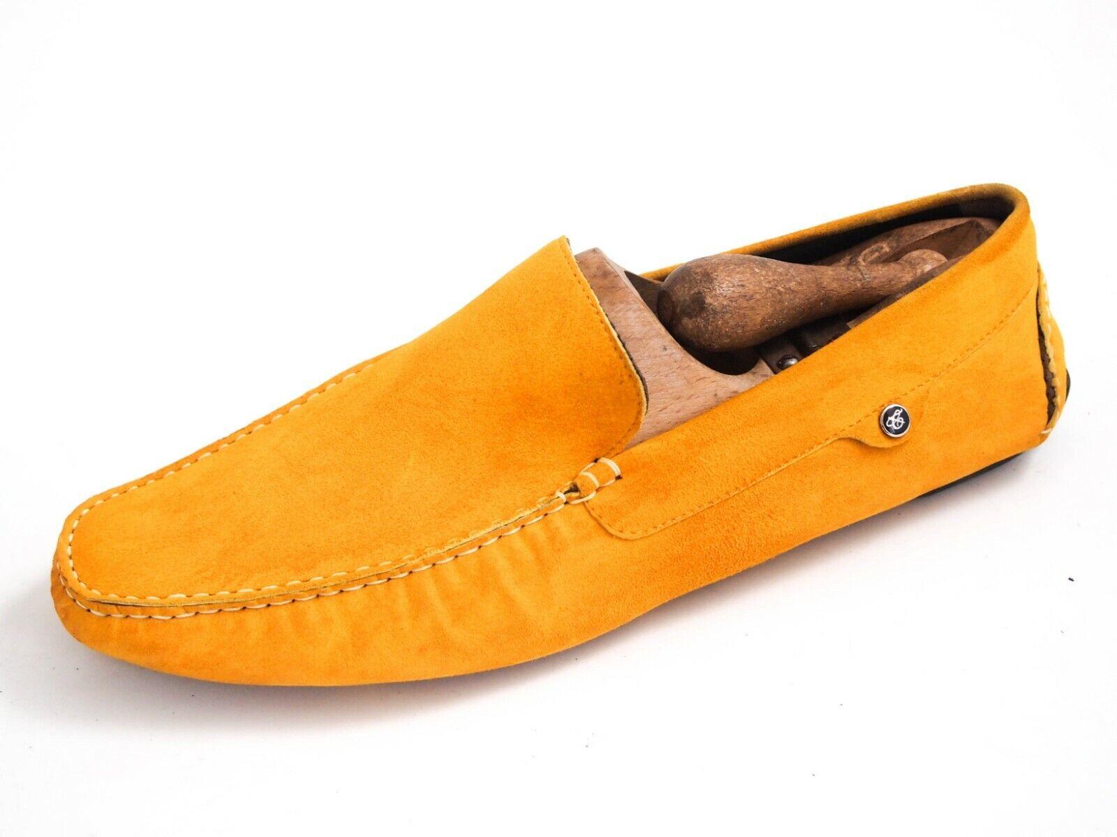 Canali Conducción Mocasines De Gamuza Amarillo Zapatos para hombre talla EU 41 nos 8  450