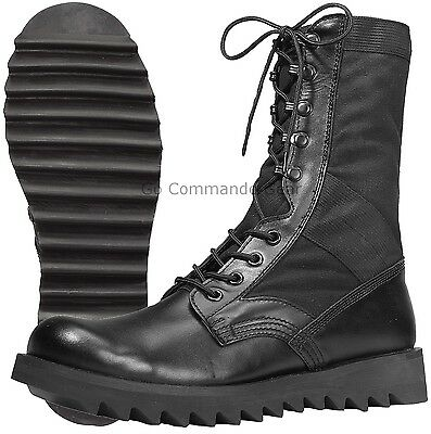 """Boots Combat Jungle Ripple Sole Black Military 10/"""" ROTHCO 5050"""