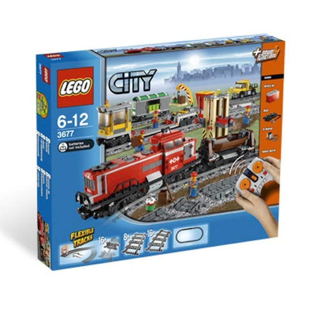 LEGO CITY 3677 Treno Cargo Rosso