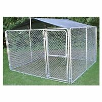 Outdoor Kennel Roof Frame Cover Kit Dog Canine Sun Protect Pet Cages 10x10
