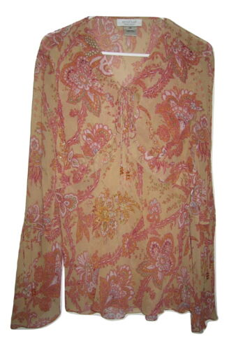 Emanuel Ungaro Silk Shear Embellished Beaded Sequi