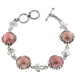 Special Price Flower Motif Pink Mabe Pearl 925 Sterling Silver
