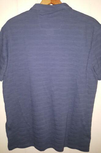 NEW John Varvatos Polo Shirt Men/'s Sz Medium Storm Blue