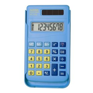 Aurora-HC-106-Solar-Calculator-With-Slide-on-Cover