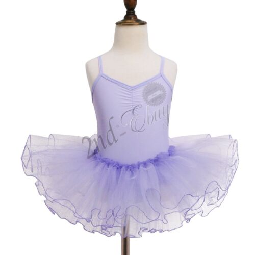 Girls Leotard Ballet Dance Dress Kids Gymnastics Tutu Skirt Stage Show Costumes