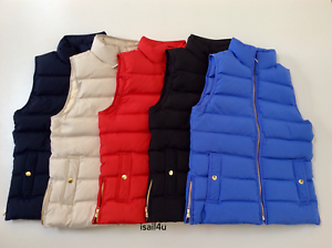 J. Crew Mountain Puffer Down Vest NWT US Women's Size  XS-XL