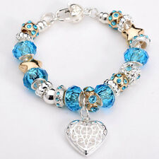 Wholesale Fine 925 Sterling Silver Jewlery CHARM Chain 8inch Bracelet WH220