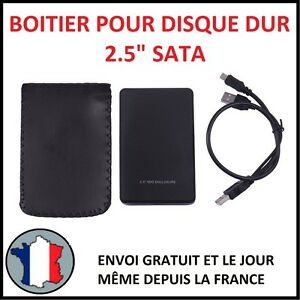 """BOITIER POUR DISQUE DUR 2.5"""" USB 2.0 HDD EXTERNE SATA SSD STOCKAGE PROTECTION N"""