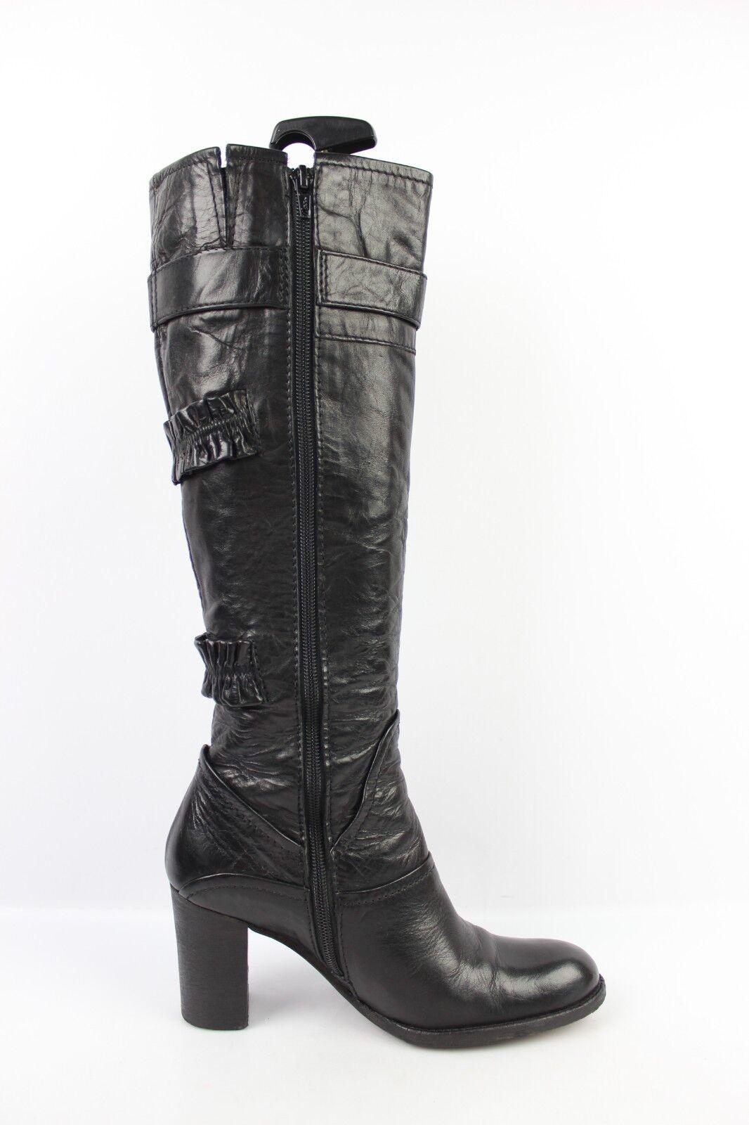 Stiefel REGARD Vollleder schwarz schwarz schwarz t 37,5 sehr guter Zustand 10eccb