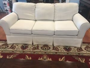 Details about 3-piece Ivory Upholstery Couch Set Great Condition, Great  Price