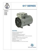 Thomas Vacuum Veneer 1/8 Hp Piston Air Compressor Pump 617ca22 Free S&h