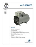 Thomas Vacuum Veneer 1/8 Hp Piston Air Compressor Pump 617a32 Free S&h