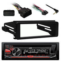 Kdr670 Aux Am Fm Cd Usb Car Radio, 98-2013 Flhx Harley 98-2013 Installation Kit on sale