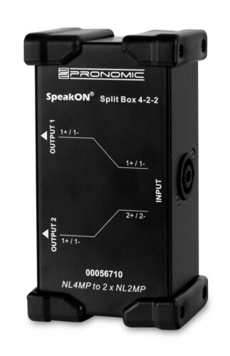 Pronomic Speakon Split Box 4-2-2 Splitter Merger Kabel PA DJ Bühne Zubehör Tool