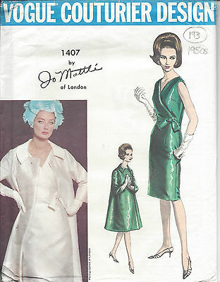 "R524 1950s Vintage Sewing Pattern DRESS B33/"""