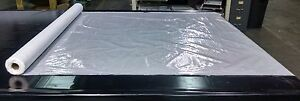 """MARINE 10 GAUGE CLEAR BOAT VINYL 54"""" W BY THE FOOT DOUBLE CLEAR POLISHED VINYL"""