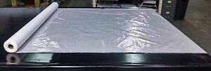 """Clear Vinyl Marine10 Gauge 54"""" Wide By The Foot Window Enclosure Clear Vinyl"""