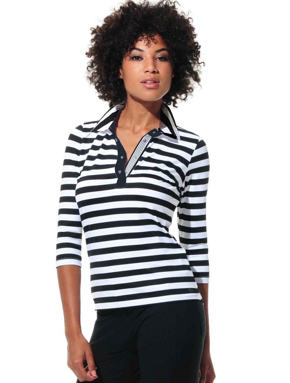 NWT MDC Woherren schwarz Weiß Stripe 3 4 Sleeve Größe 34 New  style 226200