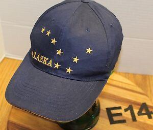 0d9e8a4efc3 ALASKA NORTH STAR BIG DIPPER HAT DARK BLUE STRAPBACK ADJUSTABLE VGC ...