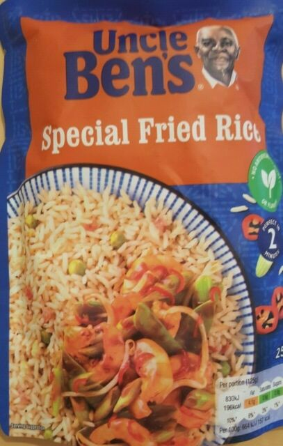 Uncle Ben's Special Fried Rice Rice Gluten Free 250g Ready ...