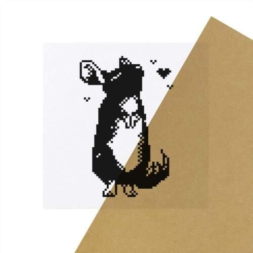 Stickers 6 x /'Pixel Chinchilla/' Transparente Aufkleber SK00021975