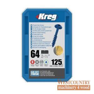 "Kreg SML-C250B-125-EUR Kreg Blue-Kote WR Pocket Hole Screws - 64mm / 2-1/2"" x 8"