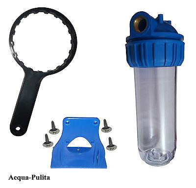 """Contenitore filtro acqua per cartuccia purificatore depuratore 10/' 1/"""" Big ottone"""