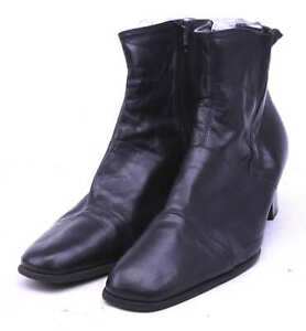 Clarks-Womens-UK-Size-7-5-Black-Leather-Ankle-Boots