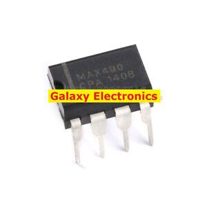 10pcs-Original-MAX490-chip-RS422-RS485-transceiver-2-5MBPS-5-25V-DIP-8