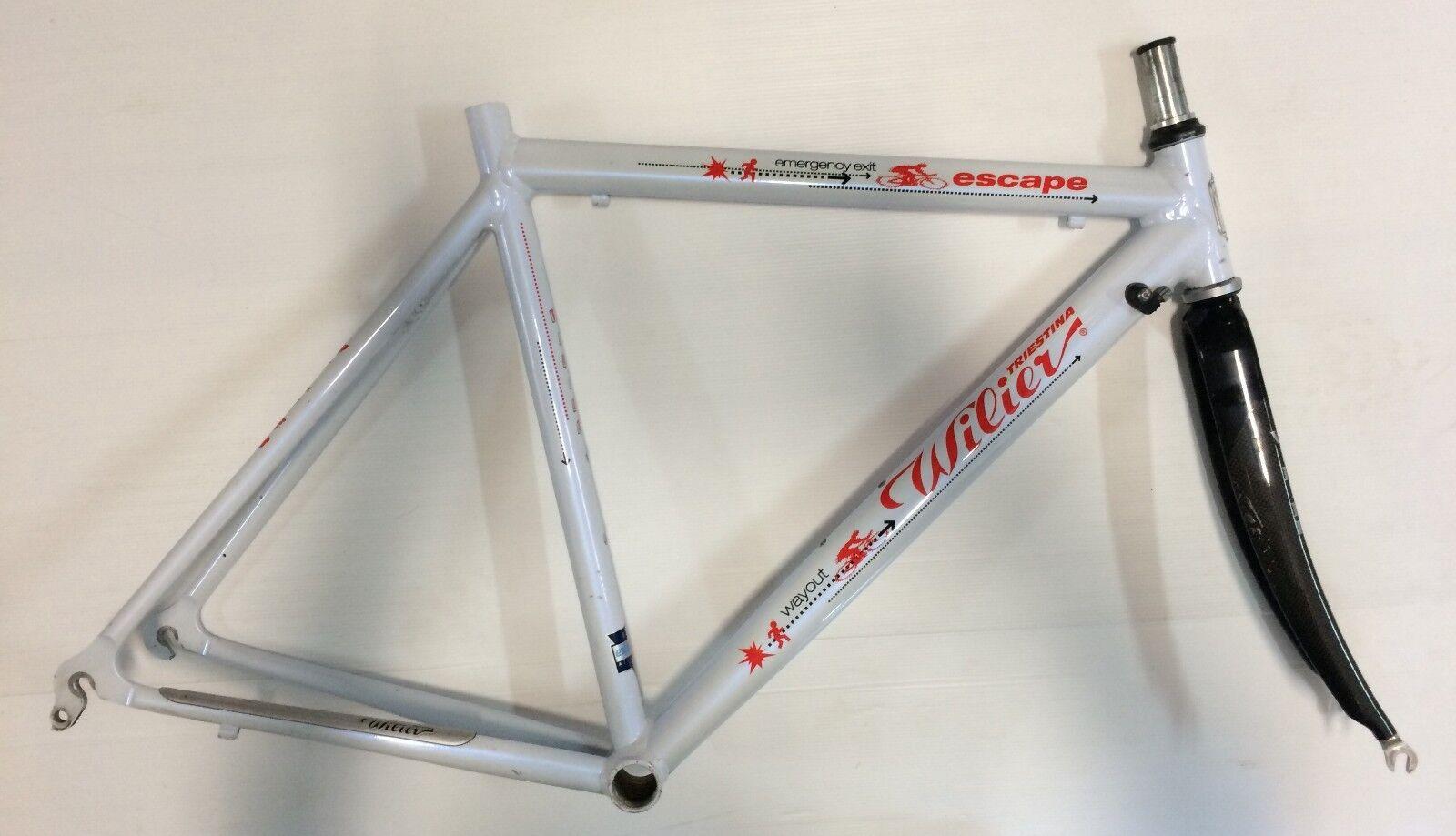 Telaio bici Vintage Wilier Triestina aluminio carbonio trake frame alu